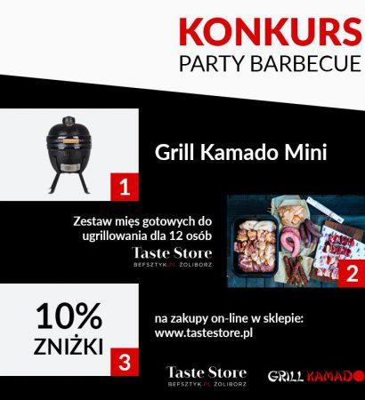 """Październikowy konkurs ogłaszamy pod hasłem: """"Party barbecue""""."""